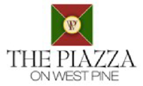 the piazza on west pine logo