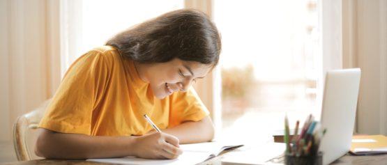 student using wi fi